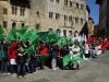 manifestazione in piazza per 150 anni italia